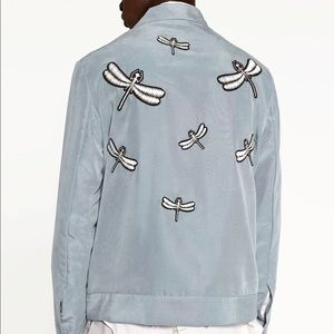 Zara Man Dragonfly Zip Front Jacket Sz XL